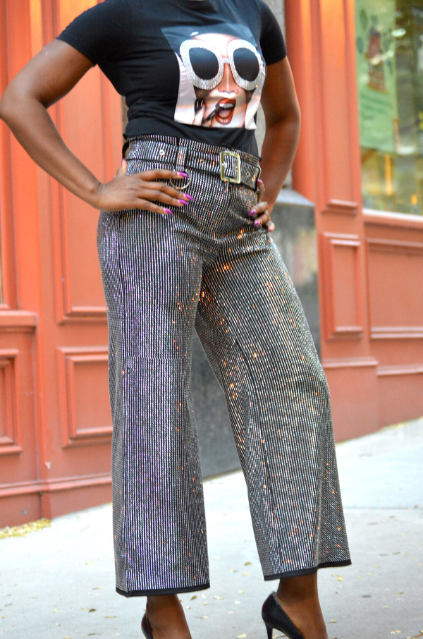 Shine Bright Like a Diamond Wide Leg Pants