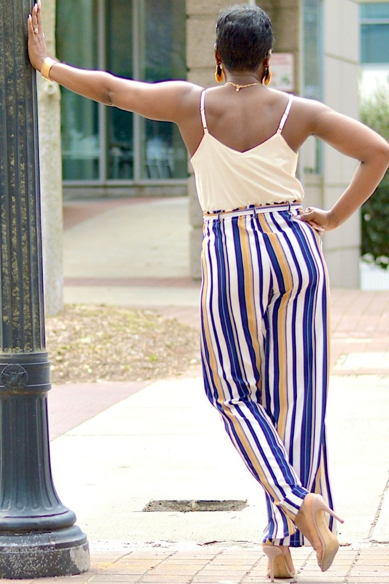 Just Fine Striped Jumpsuit