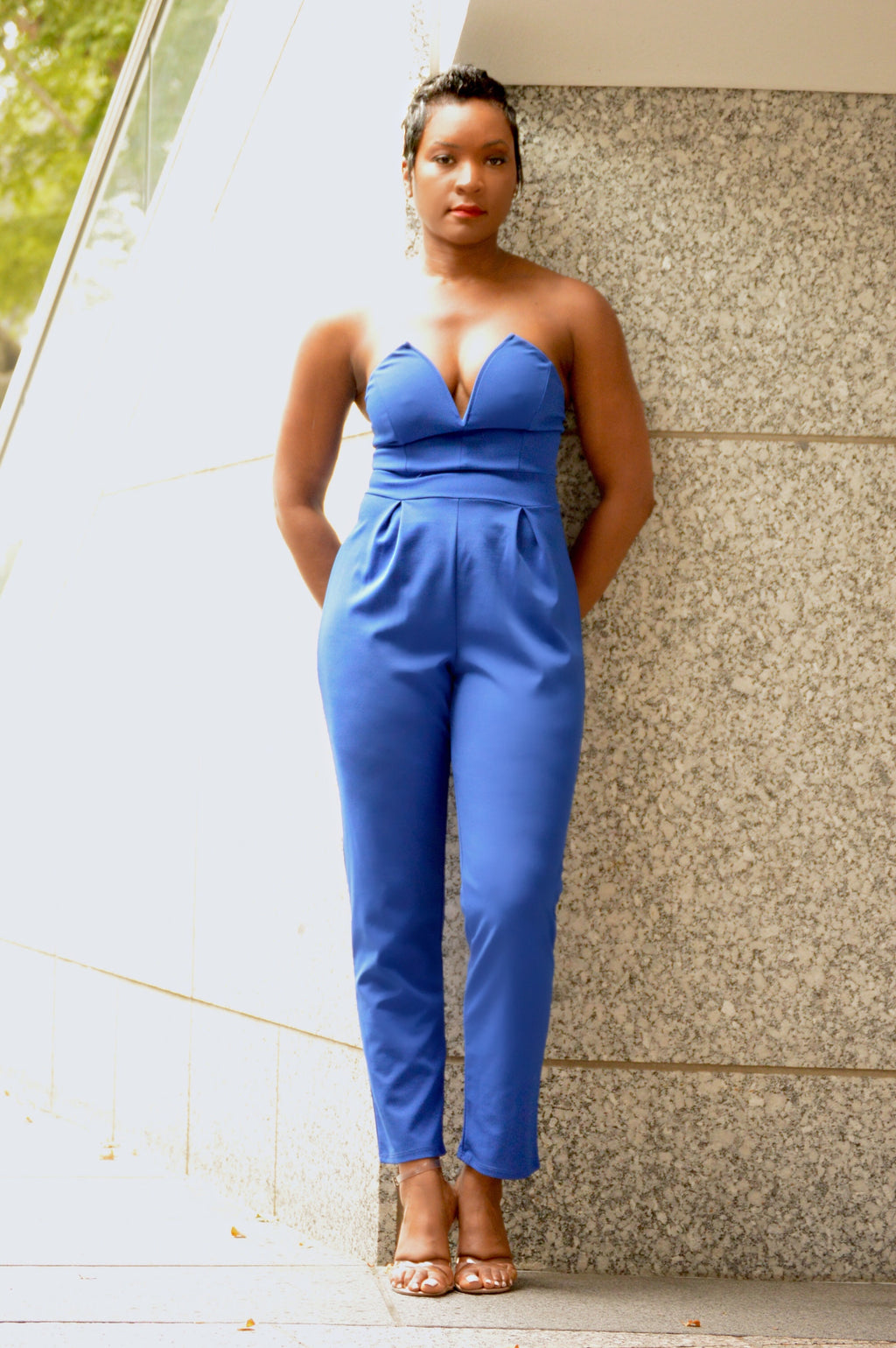 Electric Blue Jumpsuit