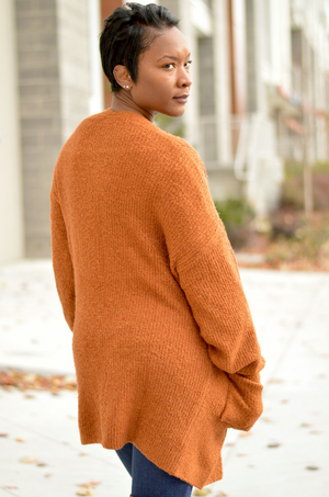 Rust Knit Cardigan