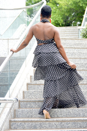 Come Through Polka Dot Multi-Wear Maxi Dress