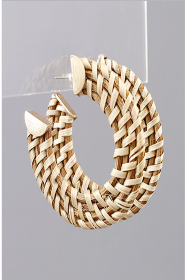 Rattan Hoop Earrings