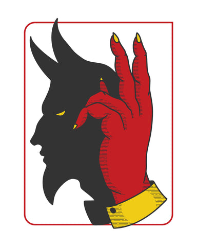 Devil Shadow Puppet Print