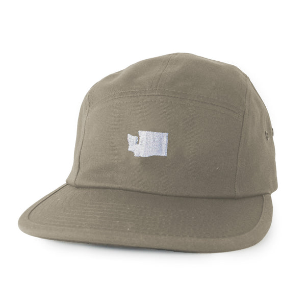 Little WA 5 panel hat - Khaki - Viaduct