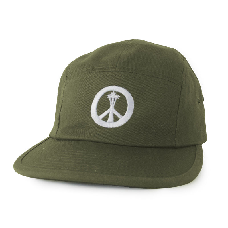 Peace Needle 5 panel hat - Olive - Viaduct