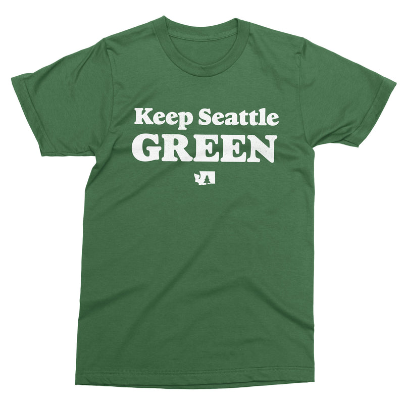 Keep Seattle Green tshirt - Viaduct