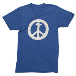 Peace Needle Blue tshirt - Viaduct