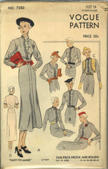 Vogue 7250 Vintage Clothing Pattern