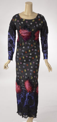Koos Silk Brocade and Embroidered Long Dress