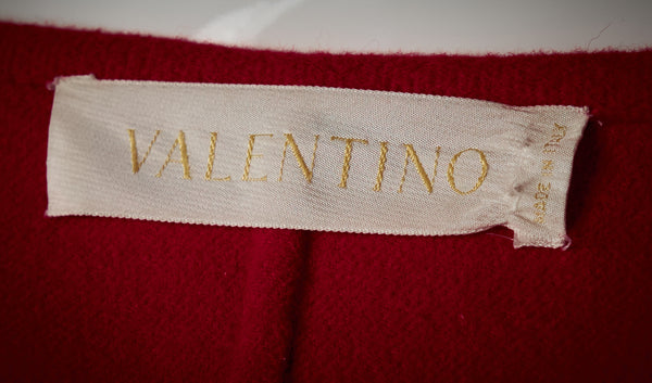 Valentino Red Wool Coat