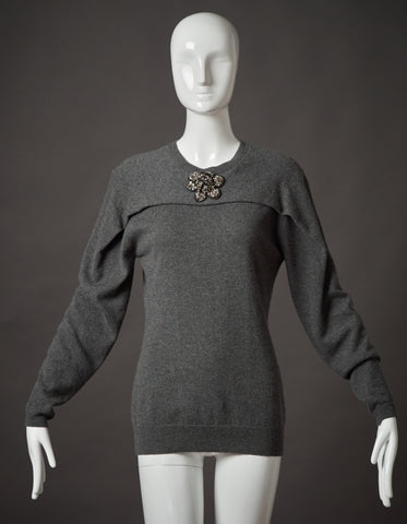 Lanvin Grey Cashmere Sweater