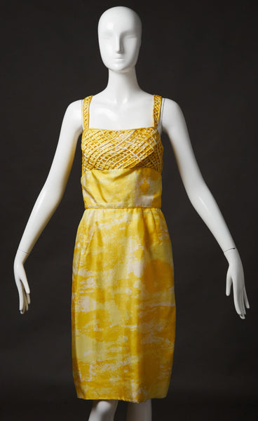 Seymour Jacobson Yellow Silk Sundress