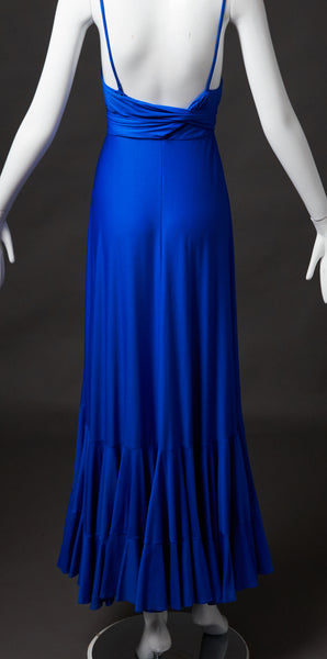 Georgio Sant'Angelo Sapphire Blue Evening Gown