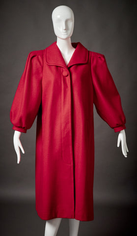 David Benjamin Red Wool Coat