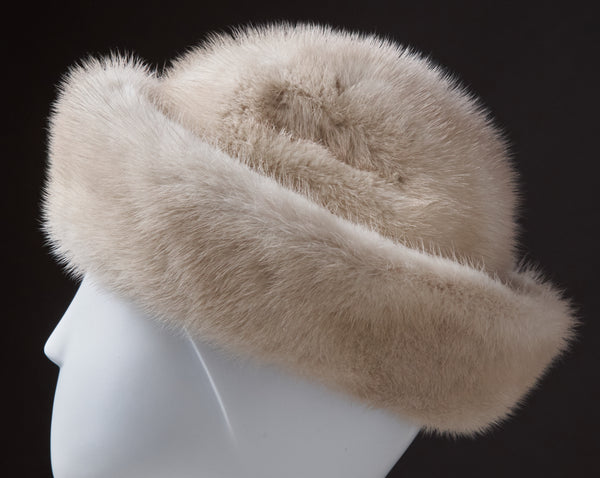 White Mink Hat