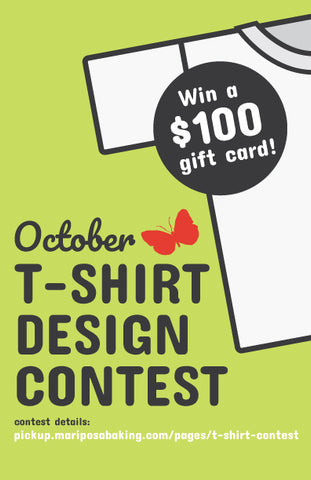 t-shirt design contest – Mariposa Baking Co  - Pick-Ups!