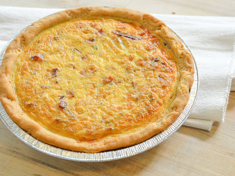 "9"" bacon quiche"
