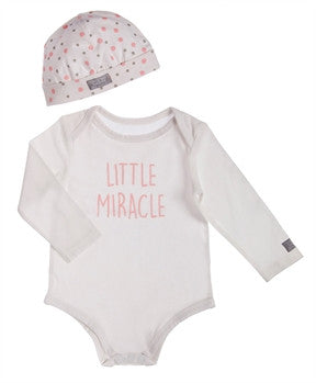 Pink Little Mircle Onesie and Hat