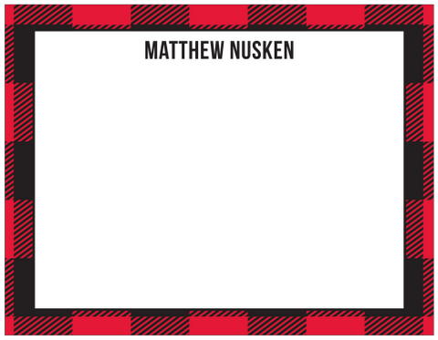 Red Plaid (flat) Stationary