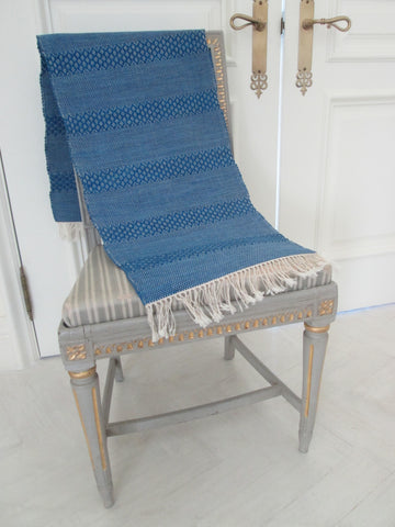 Swedish Blue Rug Rag Runner