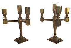 A  Midcentury Swedish Candelabra's, Pair