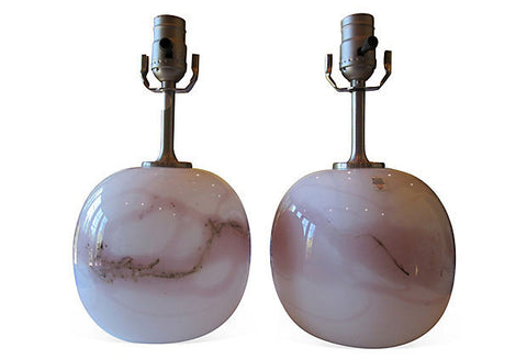 A SPECIAL ORDER - Midcentury Danish Globe Lamps, Pair