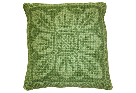 Swedish Hand Embroidered Pillow