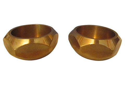 Skultuna Solid Brass Candleholders, Pair