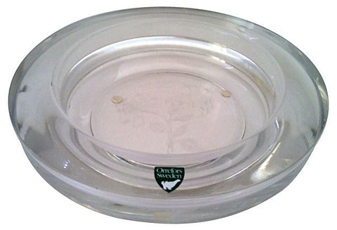 Swedish Glass Etched Bowl