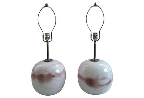 A SPECIAL ORDER - Holmegaard Michael Bang Lamps, Pair