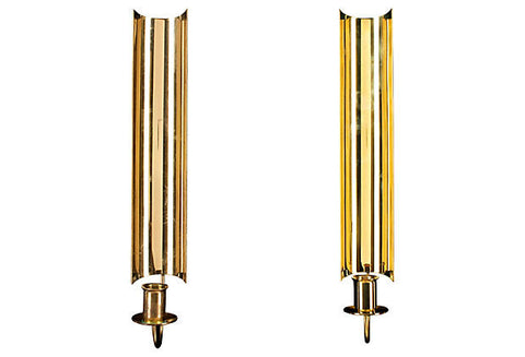 Pierre Forssell Skultuna Candle Sconces, Pair