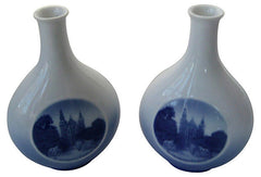 A Danish Porcelain Vases, Pair