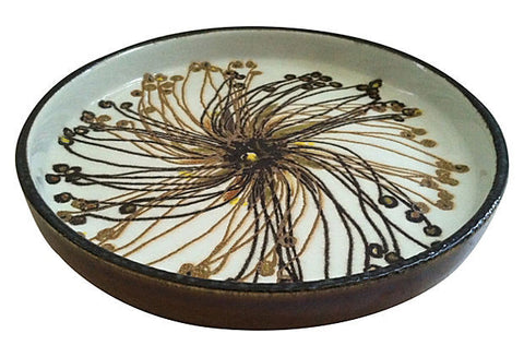 Danish Abstract Flower Bowl