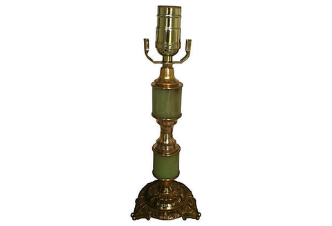 A Gustavian-Style Green Lamp