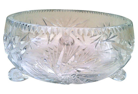 Early Midcentury Swedish Crystal Bowl