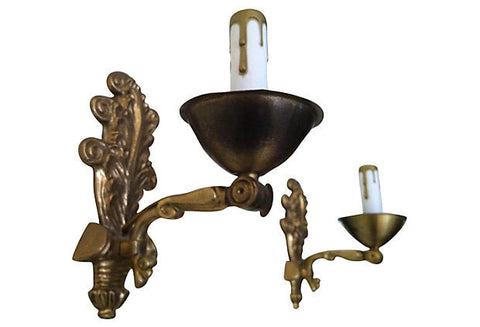A Early-1900s Swedish Sconces, Pair