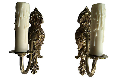A Gustavian-Style Sconces, Pair