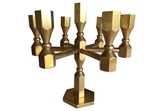 A Midcentury Swedish Designer Solid Brass