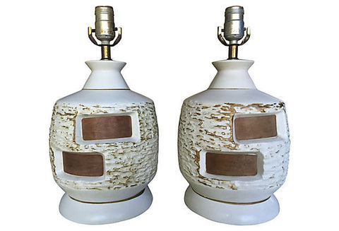 A Midcentury Danish Retro Lamps, Pair