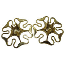 Skultuna Swedish Brass Candlestick Holders, Pair