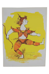 "Bjørn Wiinblad ""Dancing Indian Archer"" Print"