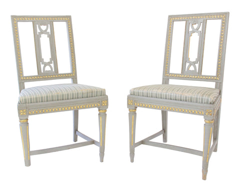 Pair of Late Gustavian Chairs