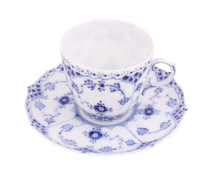 Set of Five Royal Copenhagen Mini Cup and Saucer