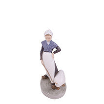 Royal Copenhagen Goose Girl Figurine