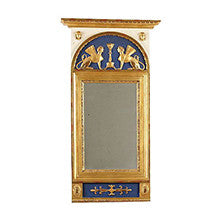 19th Century C Werné Norrtälje Empire Mirror