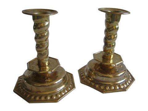Baroque Candlesticks with Octagon Bases