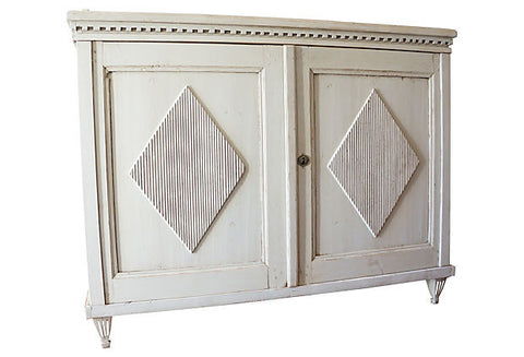 Two Door Gustavian Sideboard Cabinet