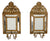 Baroque Style Candlestick Holder Mirrors