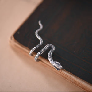 925 Sterling Silver Snake Ear Cuff - TAIGS000