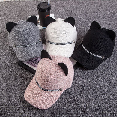 Cute Cat Ear Baseball Caps - TAIGS000